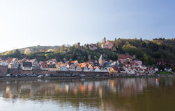 Town of Hirschhorn Hesse Germany Royalty Free Stock Images