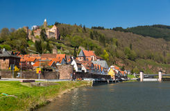 Town of Hirschhorn Hesse Germany Stock Images
