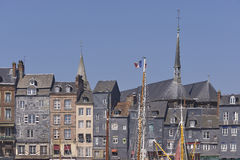 Town of Honfleur in France Stock Images
