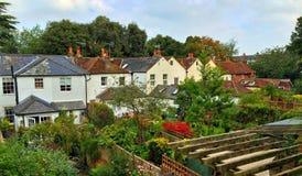 Town house gardens Stock Photo