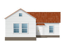 Town house. Small town house with white walls and red roof. EPS10 Royalty Free Stock Image