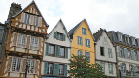 Town Houses. Colorful town houses in the town of Morlaix in France Royalty Free Stock Image