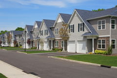Town Houses Royalty Free Stock Images