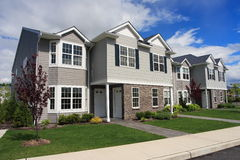 Town Houses. Row of new town homes waiting for occupancy Stock Image