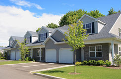Town Houses. Row of new town homes waiting for occupancy Royalty Free Stock Image