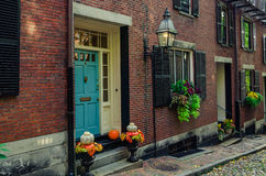 Town Houses in Beacon Hill. Town Houses in Historic Beacon Hill, Boston Royalty Free Stock Image