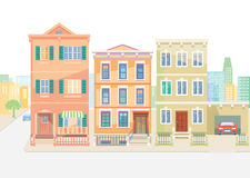 Town houses in the city Stock Images