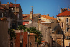 Town houses covered with tiled roofs Royalty Free Stock Photography