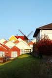 Town houses mill Royalty Free Stock Image