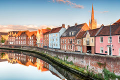 Town Houses in Norwich Royalty Free Stock Image