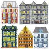 Town houses in Old Europe Stock Photos