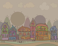 Town houses in a retro style background Royalty Free Stock Photography