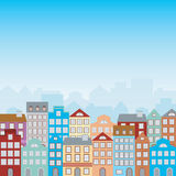 Town houses Royalty Free Stock Image