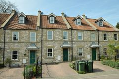 Town Houses. Row of English Town Houses Stock Photography