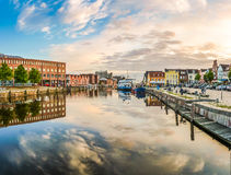 Town of Husum, Nordfriesland, Schleswig-Holstein, Germany Royalty Free Stock Photography