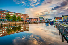 Town of Husum, Nordfriesland, Schleswig-Holstein, Germany. Beautiful view of the old town of Husum, the capital of Nordfriesland and birthplace of German writer stock photography