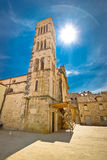 Town of Hvar church tower Stock Images