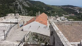 Town of Hvar, Croatia towards Adriatic Sea from Spanjola Fortress Royalty Free Stock Photos