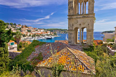 Town of Hvar old harbor view Royalty Free Stock Images