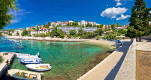 Town of Hvar turquoise waterfront view Stock Images