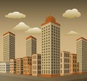 Town i perspektiv Royaltyfri Bild