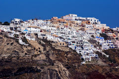 Town of Ia, Santorini, Thira,  Cyclades Islands Royalty Free Stock Photography