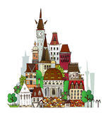Town Illustration, City collection Stock Image