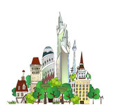 Town Illustration, City collection Stock Photography