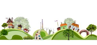 Town Illustration, City collection Royalty Free Stock Photography
