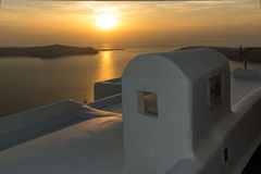 Town of Imerovigli, Santorini Stock Images
