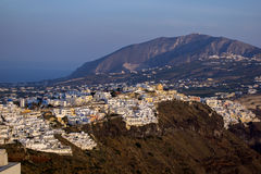 Town of Imerovigli, Santorini, Thira,  Cyclades IslandsTown of Fira, Santorini, Thira,  Cyclades Islands Stock Photo