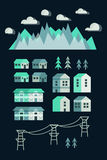 Town infographic elements Stock Photos