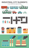 Town infographic elements. Vector city elements for create your own city map. Create your own town! Map elements for your pattern, Stock Photos