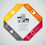 Town infographic template business concept vector Stock Photos