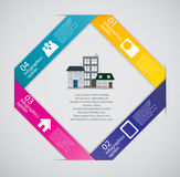 Town infographic template business concept vector Royalty Free Stock Images