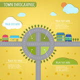 Town infographics Royalty Free Stock Photos
