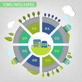 Town infographics Stock Photography
