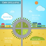 Town infographics Royalty Free Stock Image