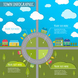 Town infographics Stock Photo