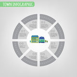 Town infographics Royalty Free Stock Images