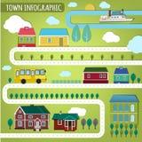 Town infographics Stock Photo