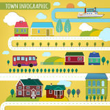 Town infographics Stock Image