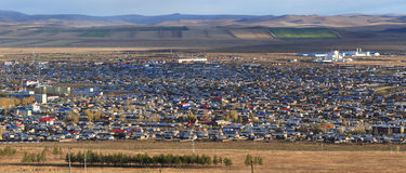 Town in Inner Mongolia, Panorama Royalty Free Stock Photos
