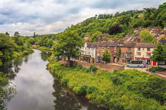 Town of Ironbridge Gorge. And the River Severn in England Stock Photo