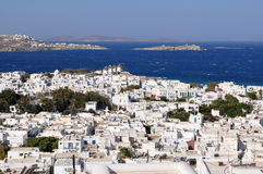 Town and island Mykonos,Greece Royalty Free Stock Photos
