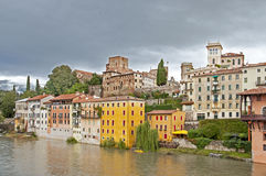 Town in Italy - Bassano del Grappa Royalty Free Stock Images