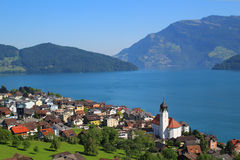 Town in Italy, Lake Como Stock Image