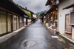 Town of Itsukushima floating Torii Gate in Miyajima Royalty Free Stock Images