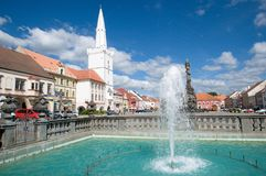 Town Kadan in Northern Bohemia, Czech republic. Fountain in the historic town Kadan in Northern Bohemia, Czech republic, Europe Royalty Free Stock Photos