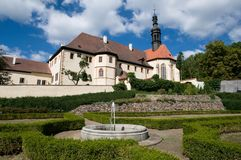 Town Kadan in Northern Bohemia, Czech republic. Monastery in the historic town Kadan in Northern Bohemia, Czech republic, Europe Royalty Free Stock Photos